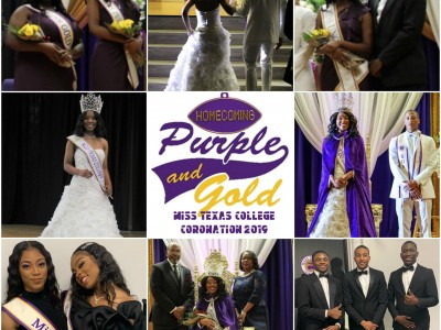 Miss Texas College coronation collage