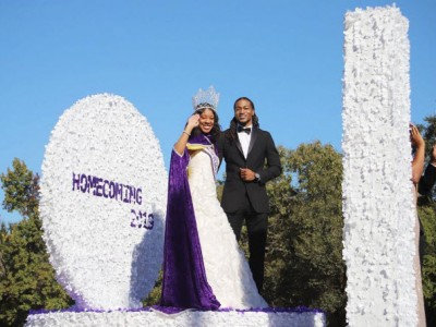 Closer shot of Miss Texas College on float